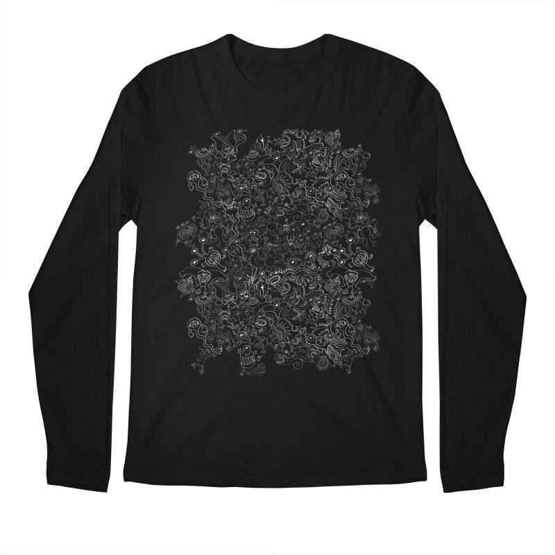 Crazy monsters pattern Men's Longsleeve T-Shirt by Zoo&co's Artist Shop