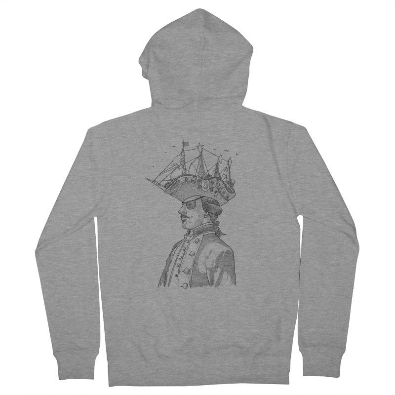 Pirate's Head Men's Zip-Up Hoody by Blxman77 Artist Shop