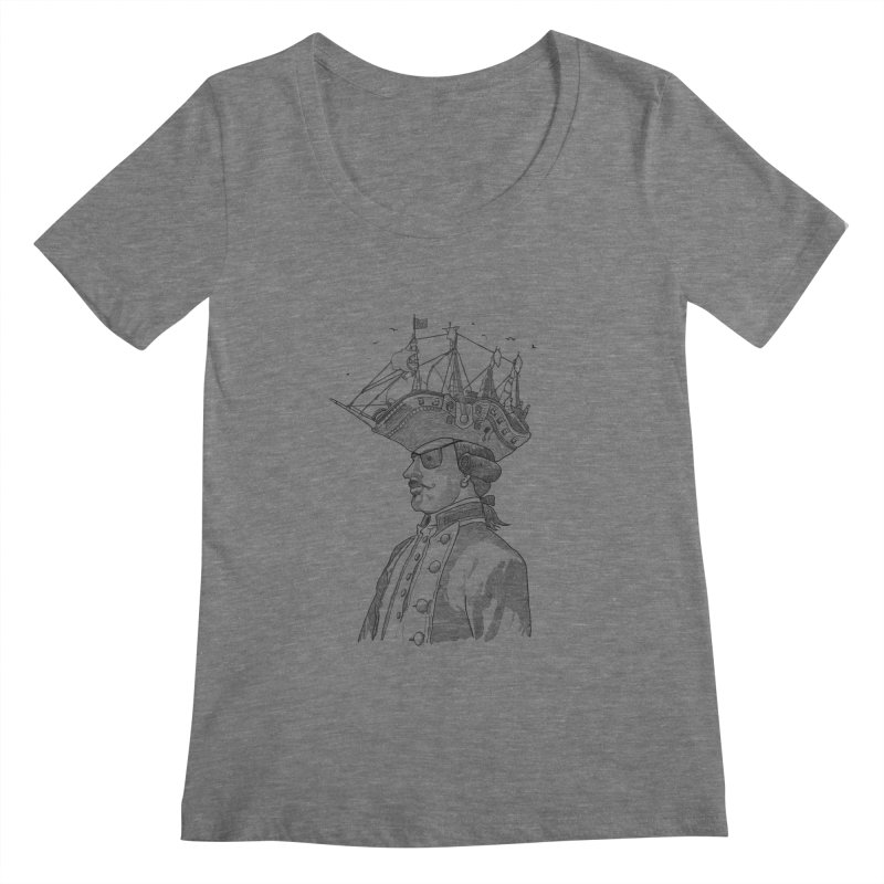 Pirate's Head Women's Scoopneck by Blxman77 Artist Shop