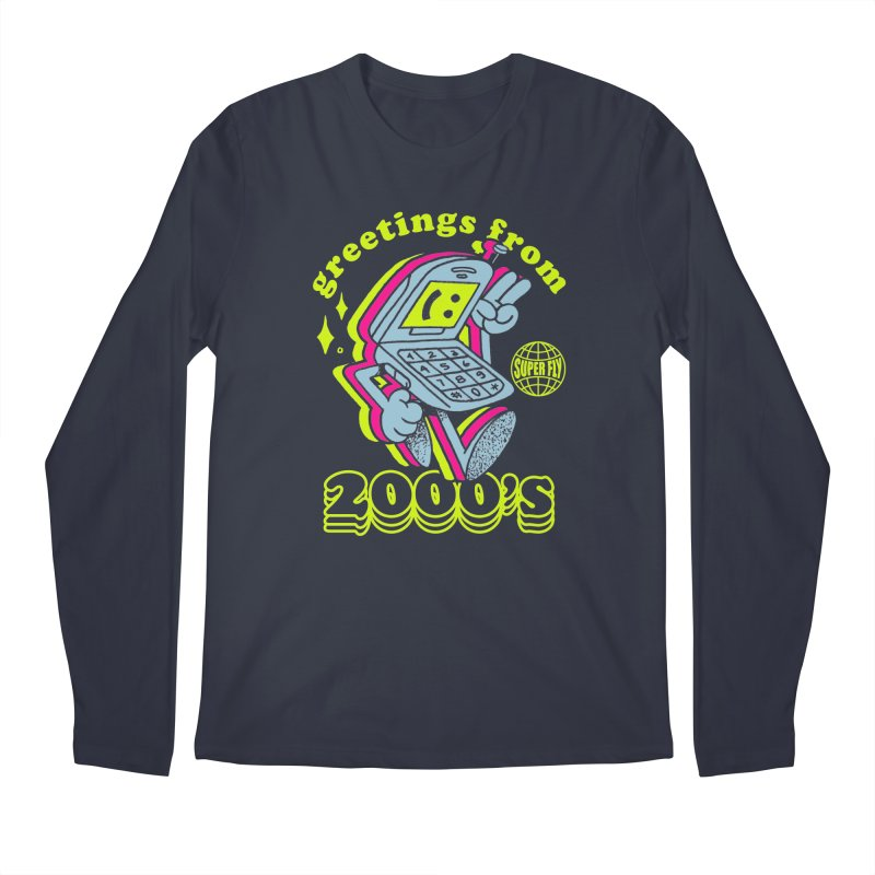 2000's in Men's Regular Longsleeve T-Shirt Midnight by ZRO30