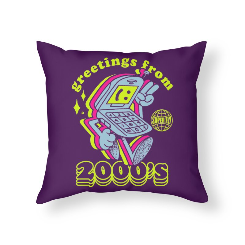 2000's Home Throw Pillow by ZRO30