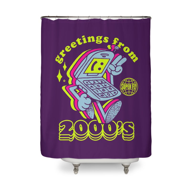 2000's Home Shower Curtain by ZRO30