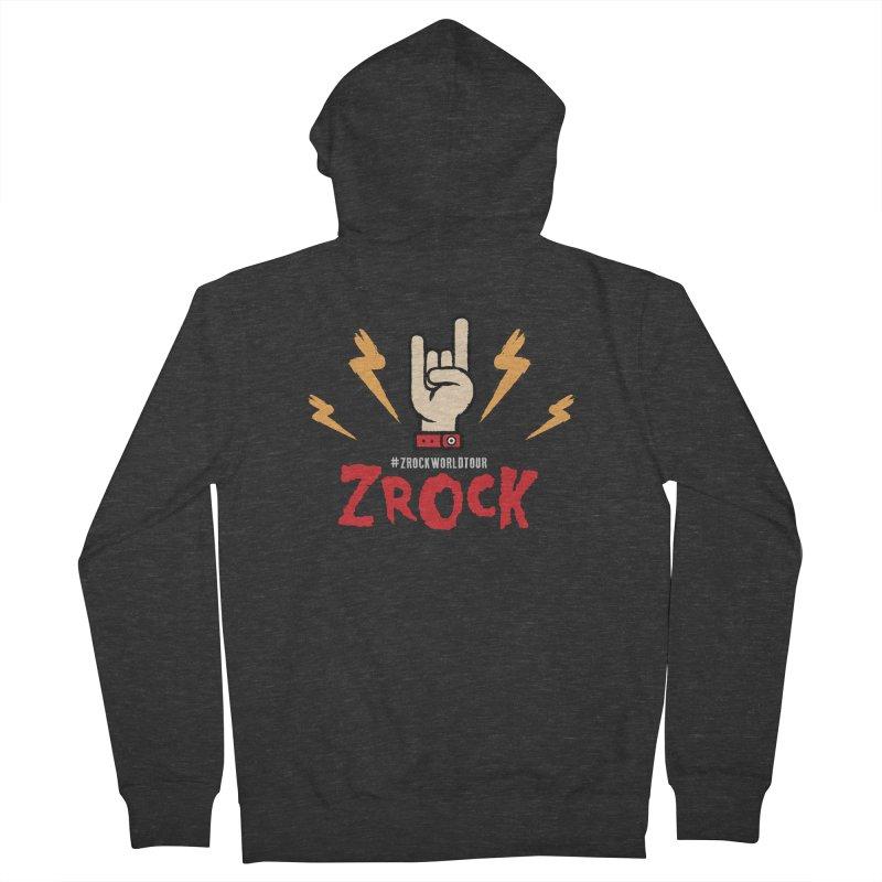 #ZRockWorldTour Men's Zip-Up Hoody by ZRock Shop