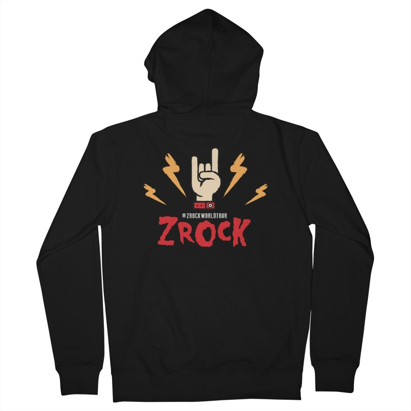 #ZRockWorldTour Men's French Terry Zip-Up Hoody by ZRock Shop