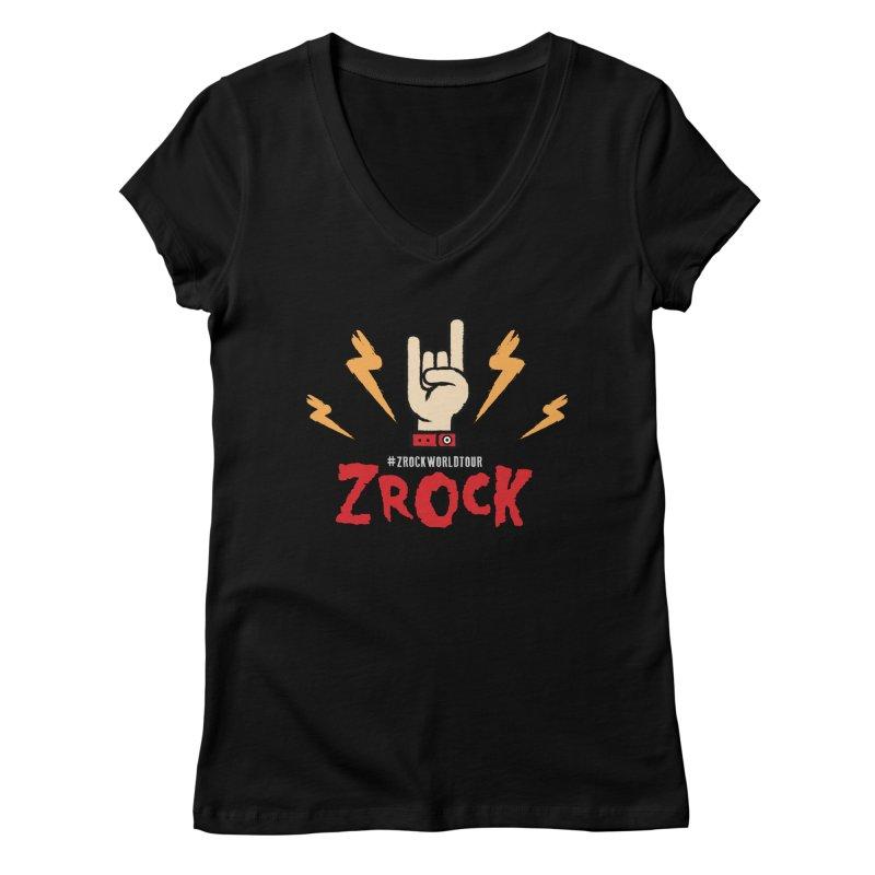 #ZRockWorldTour Women's V-Neck by ZRock Shop