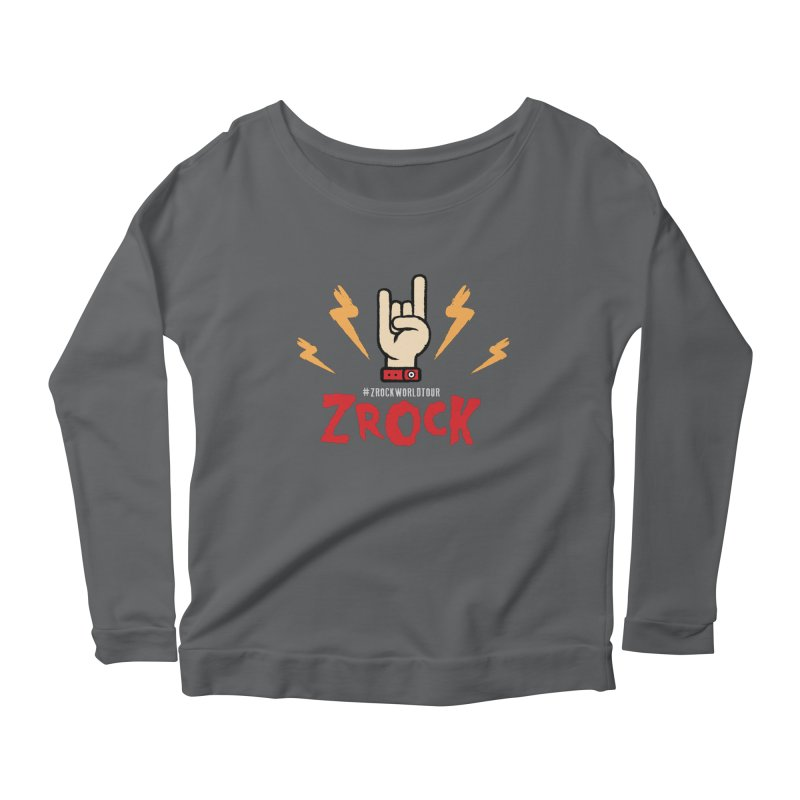 #ZRockWorldTour Women's Scoop Neck Longsleeve T-Shirt by ZRock Shop