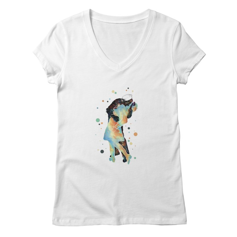 The Kiss Women's V-Neck by ZulfikriMokoagow shop