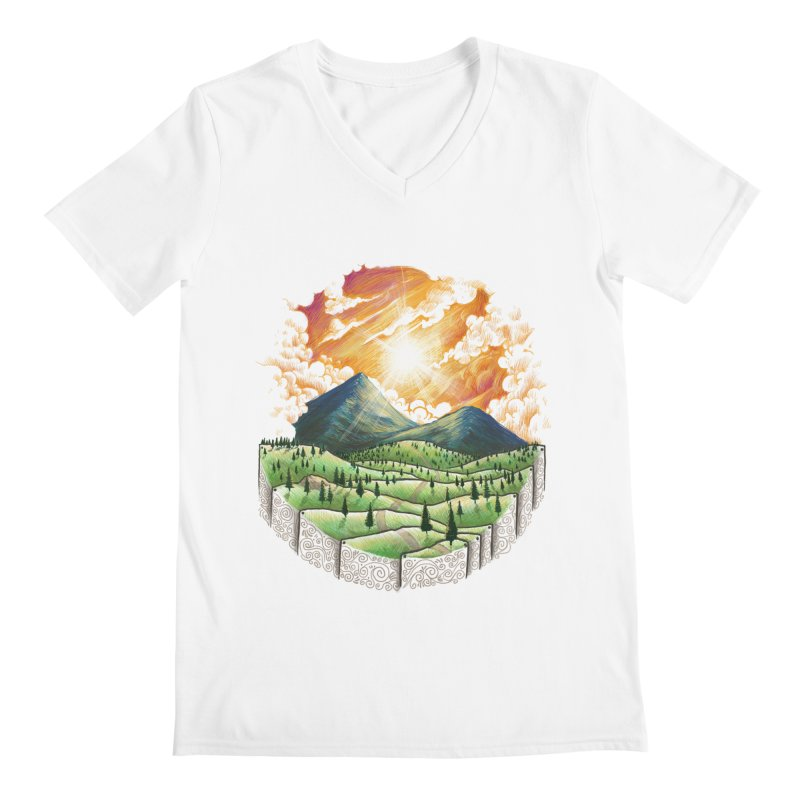 Over the sunset Men's V-Neck by ZulfikriMokoagow shop