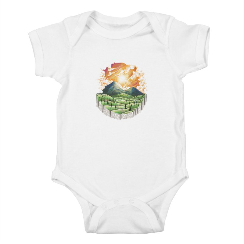 Over the sunset Kids Baby Bodysuit by ZulfikriMokoagow shop