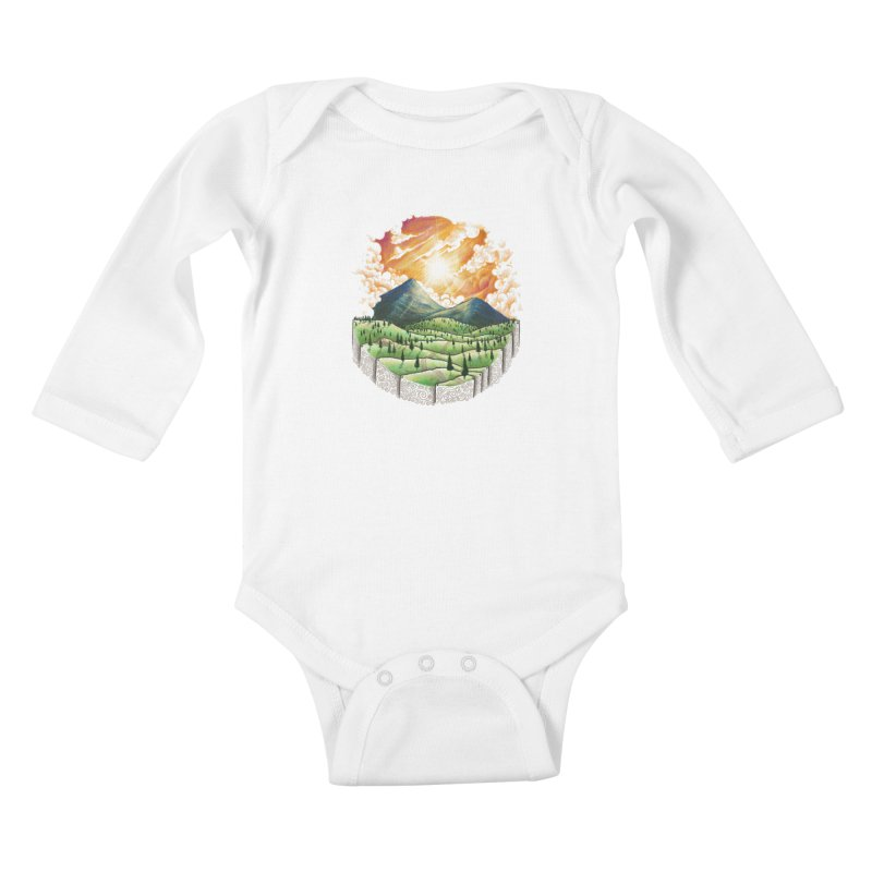 Over the sunset Kids Baby Longsleeve Bodysuit by ZulfikriMokoagow shop