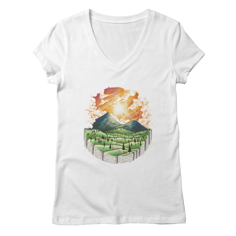 Over the sunset Women's V-Neck by ZulfikriMokoagow shop