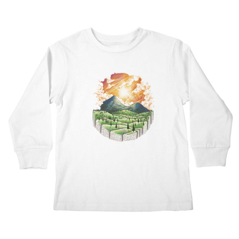 Over the sunset Kids Longsleeve T-Shirt by ZulfikriMokoagow shop