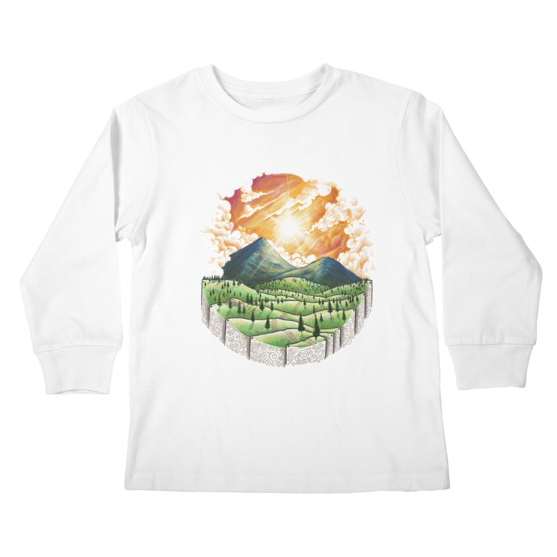 Over the sunset Kids Longsleeve T-Shirt by ZulfikriMokoagow shop