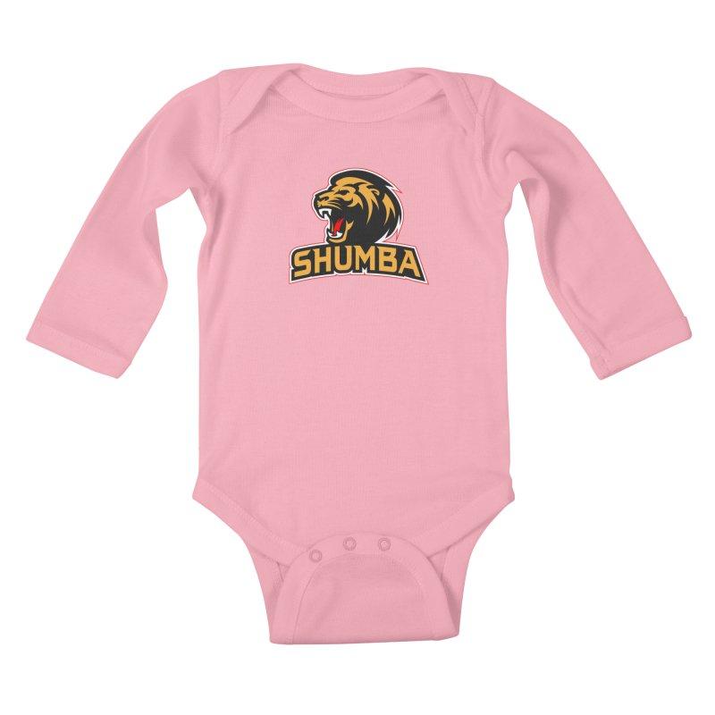 Shumba in Kids Baby Longsleeve Bodysuit Light Pink by Zulu Faz Merch Shop