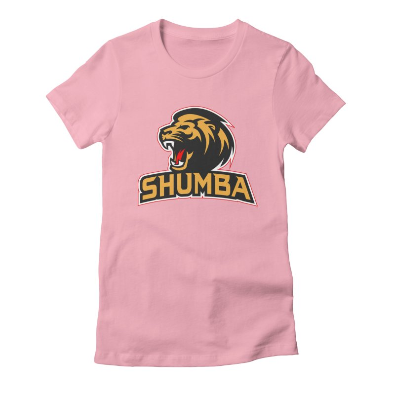 Shumba in Women's Fitted T-Shirt Light Pink by Zulu Faz Merch Shop