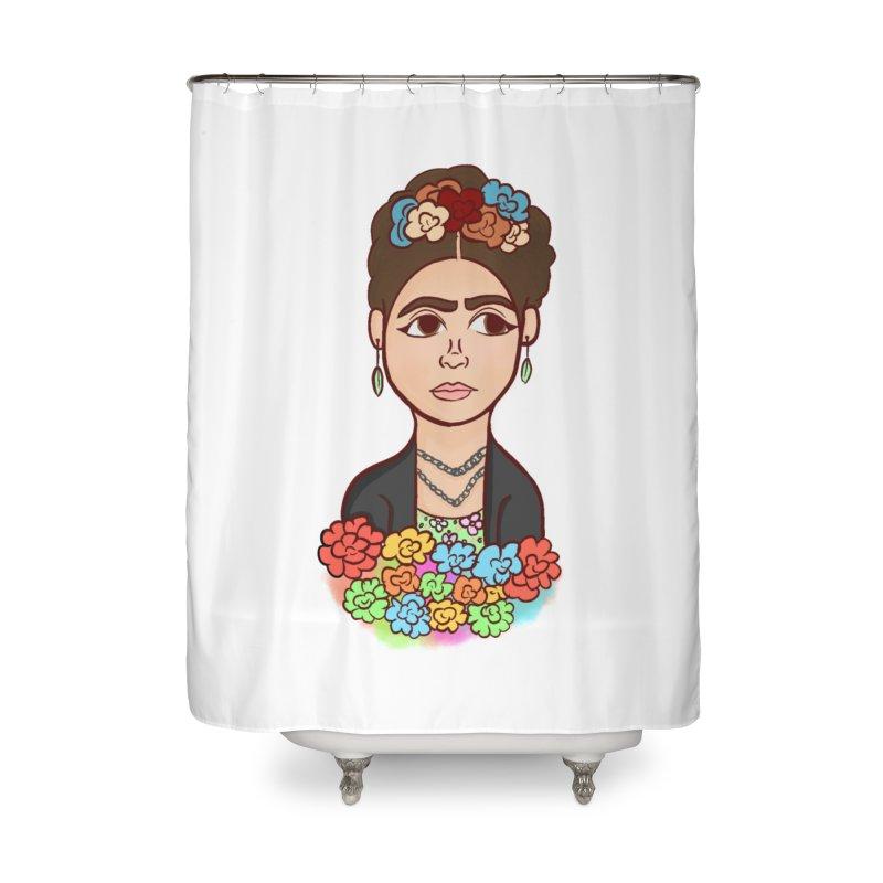 Frida K Home Shower Curtain by ZuniReds's Artist Shop