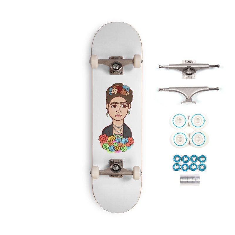 Frida K Accessories Skateboard by ZuniReds's Artist Shop