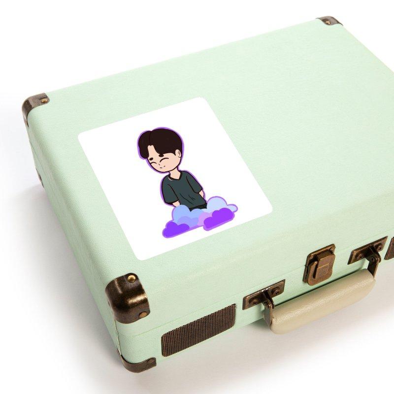 BTS boy Accessories Sticker by ZuniReds's Artist Shop