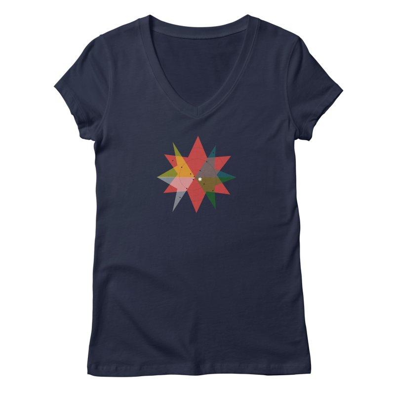 Star Women's Regular V-Neck by ZuniReds's Artist Shop