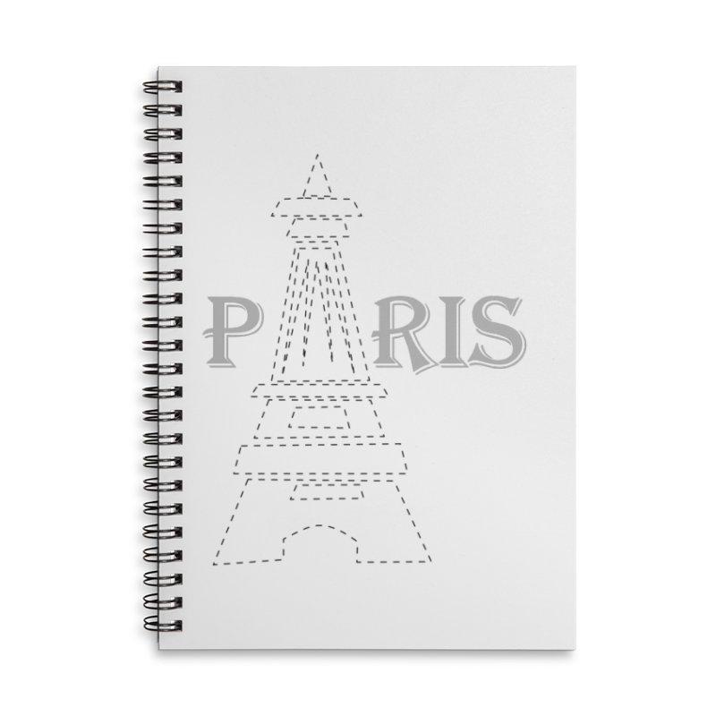 Paris Accessories Lined Spiral Notebook by ZuniReds's Artist Shop