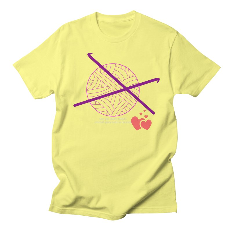 Crochet Creativo Women's Regular Unisex T-Shirt by ZuniReds's Artist Shop