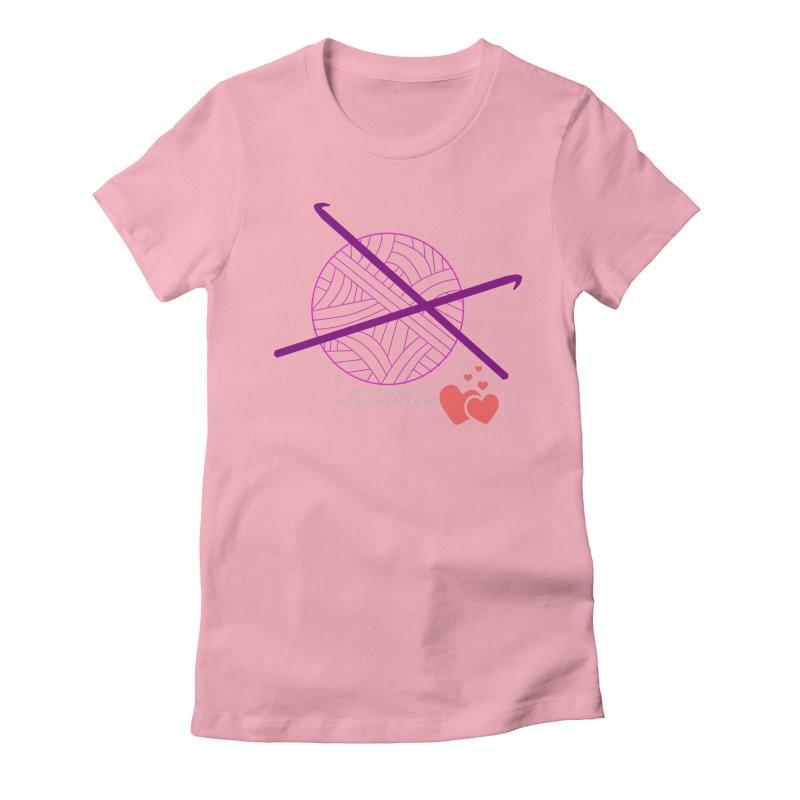 Crochet Creativo Women's Fitted T-Shirt by ZuniReds's Artist Shop