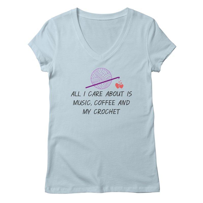 Lo que importa Women's V-Neck by ZuniReds's Artist Shop