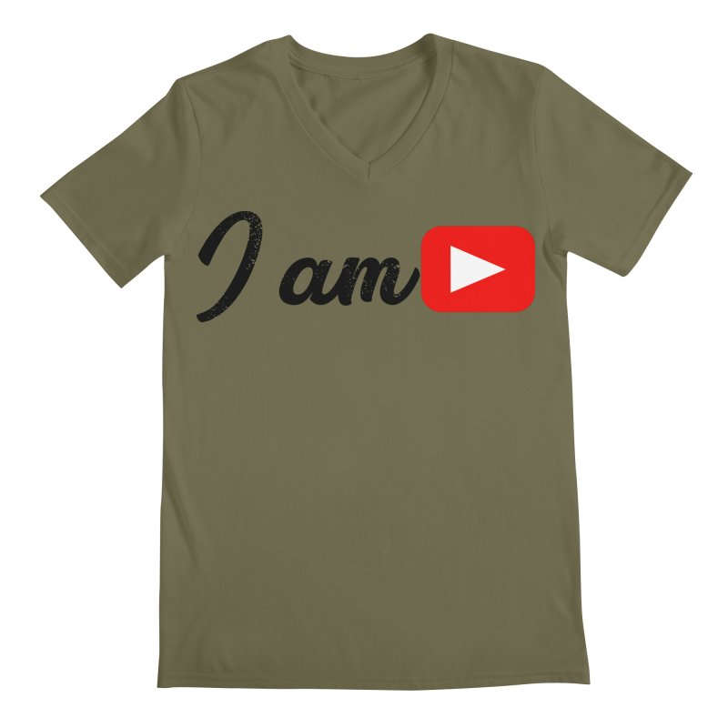 Yo soy  Youtube Men's Regular V-Neck by ZuniReds's Artist Shop