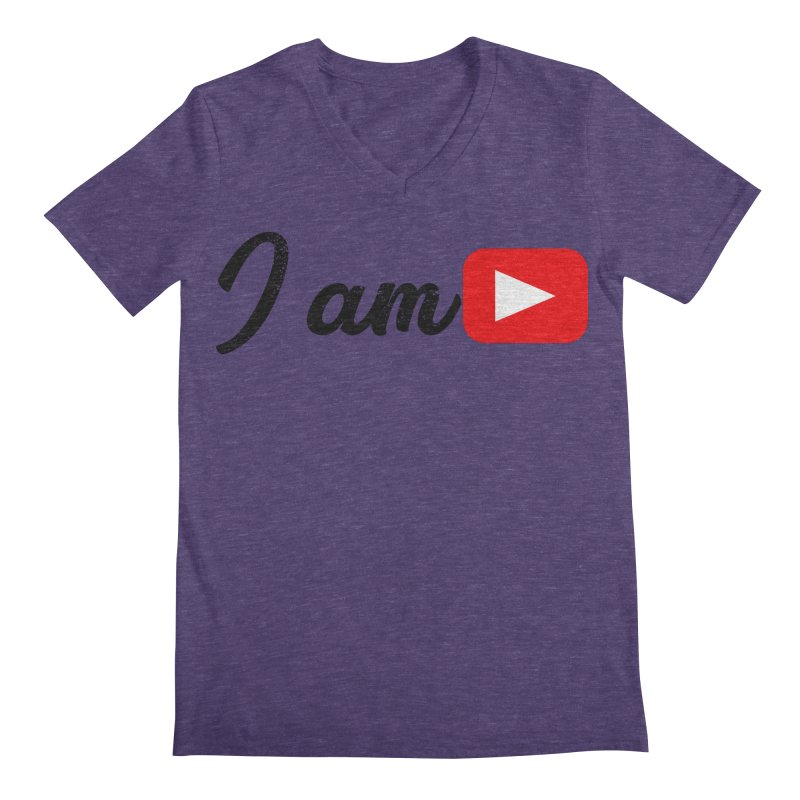 Yo soy  Youtube Men's Regular V-Neck by ZuniReds's Artist Shop