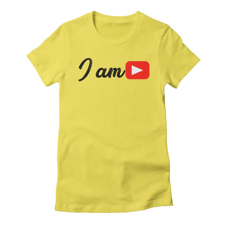 Yo soy  Youtube Women's Fitted T-Shirt by ZuniReds's Artist Shop