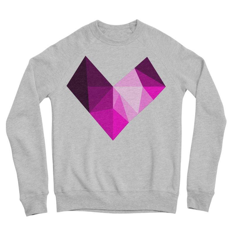 My pink heart Women's Sponge Fleece Sweatshirt by ZuniReds's Artist Shop