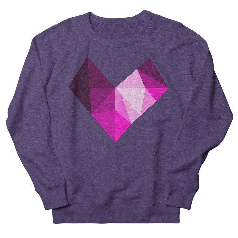 My pink heart Women's French Terry Sweatshirt by ZuniReds's Artist Shop