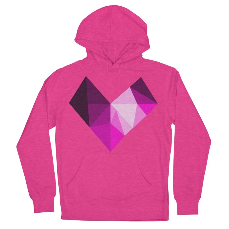 My pink heart Men's French Terry Pullover Hoody by ZuniReds's Artist Shop