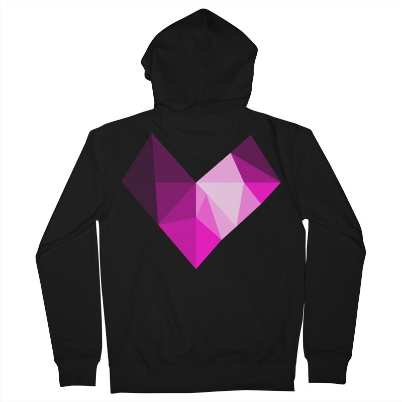 My pink heart Men's French Terry Zip-Up Hoody by ZuniReds's Artist Shop