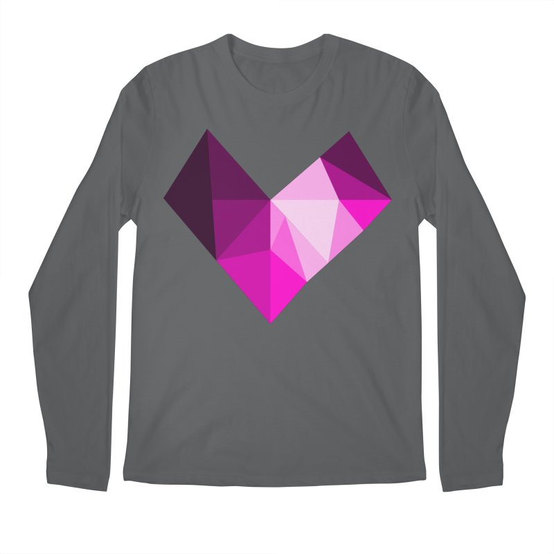 My pink heart Men's Longsleeve T-Shirt by ZuniReds's Artist Shop