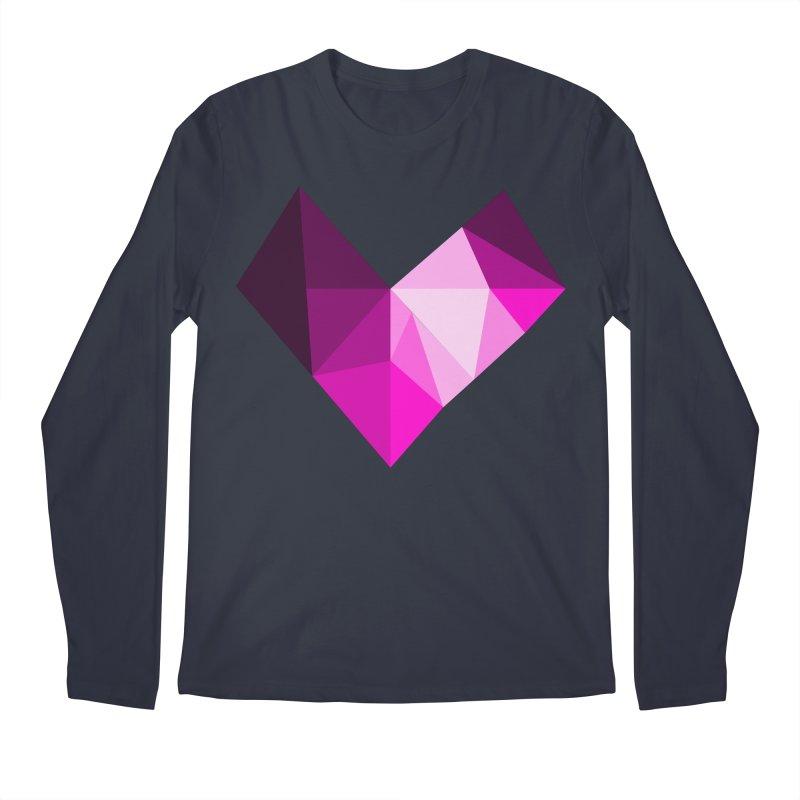 My pink heart Men's Regular Longsleeve T-Shirt by ZuniReds's Artist Shop