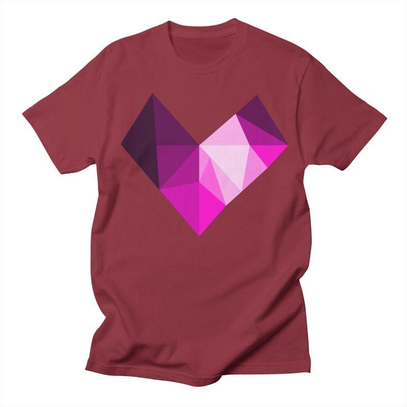 My pink heart Men's T-Shirt by ZuniReds's Artist Shop
