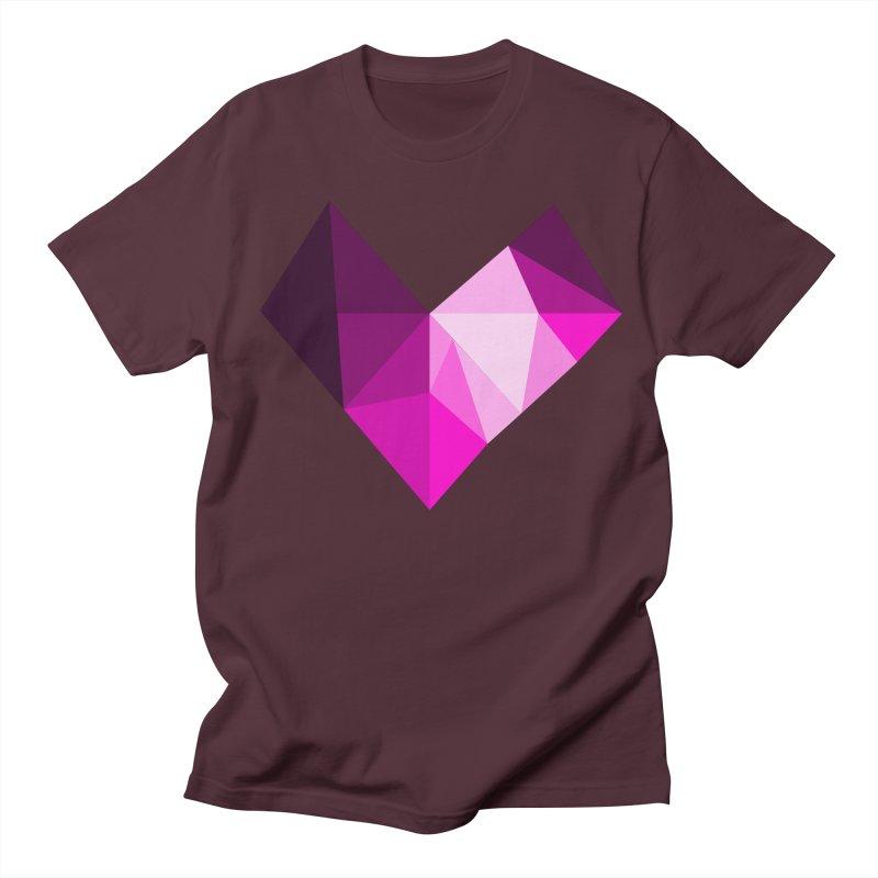 My pink heart Women's Regular Unisex T-Shirt by ZuniReds's Artist Shop