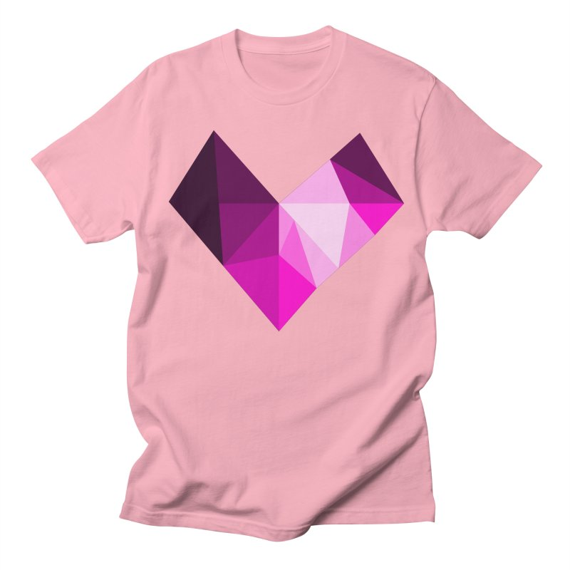 My pink heart Men's T-Shirt by ZuniReds's Artist Shop