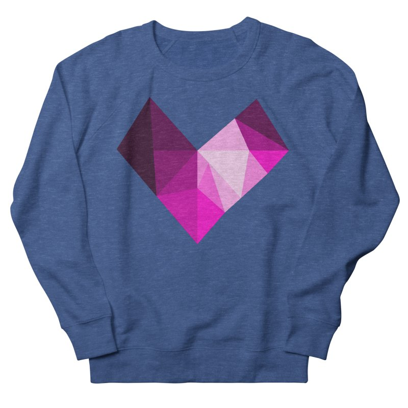 My pink heart Men's French Terry Sweatshirt by ZuniReds's Artist Shop