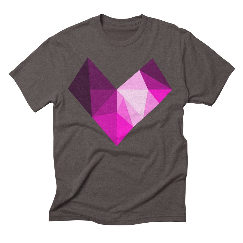 My pink heart Men's Triblend T-Shirt by ZuniReds's Artist Shop
