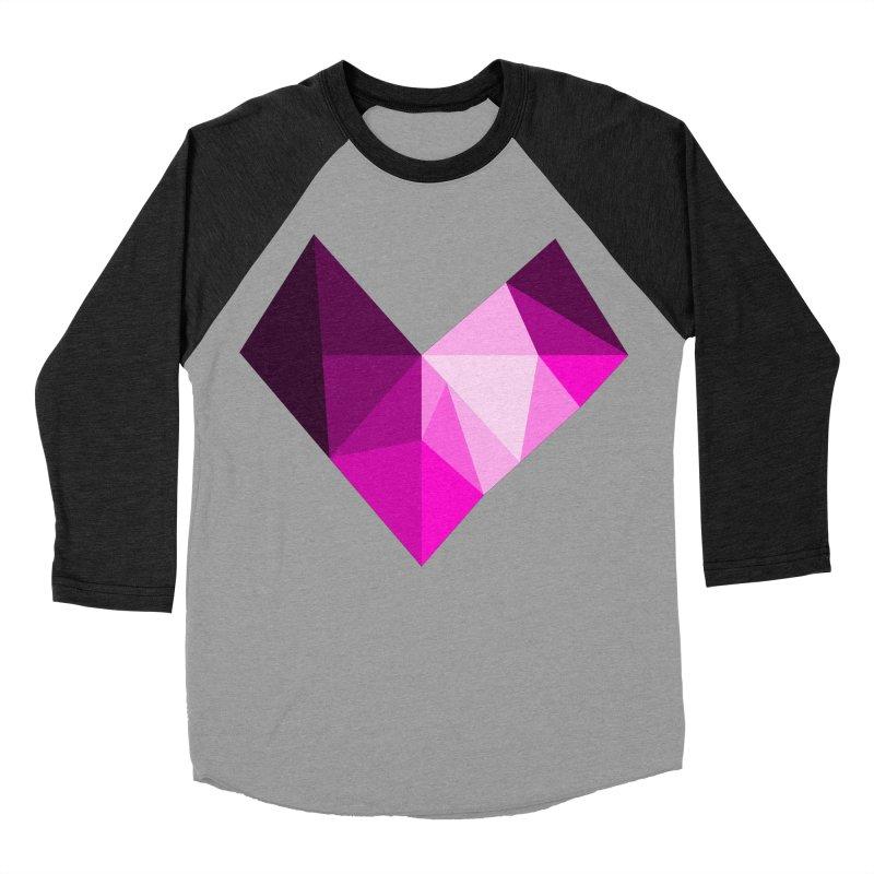 My pink heart Men's Baseball Triblend Longsleeve T-Shirt by ZuniReds's Artist Shop
