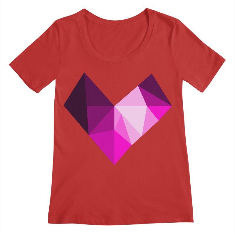 My pink heart Women's Regular Scoop Neck by ZuniReds's Artist Shop
