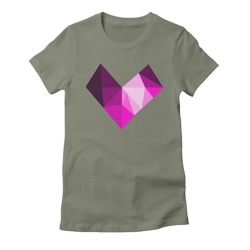 My pink heart Women's T-Shirt by ZuniReds's Artist Shop