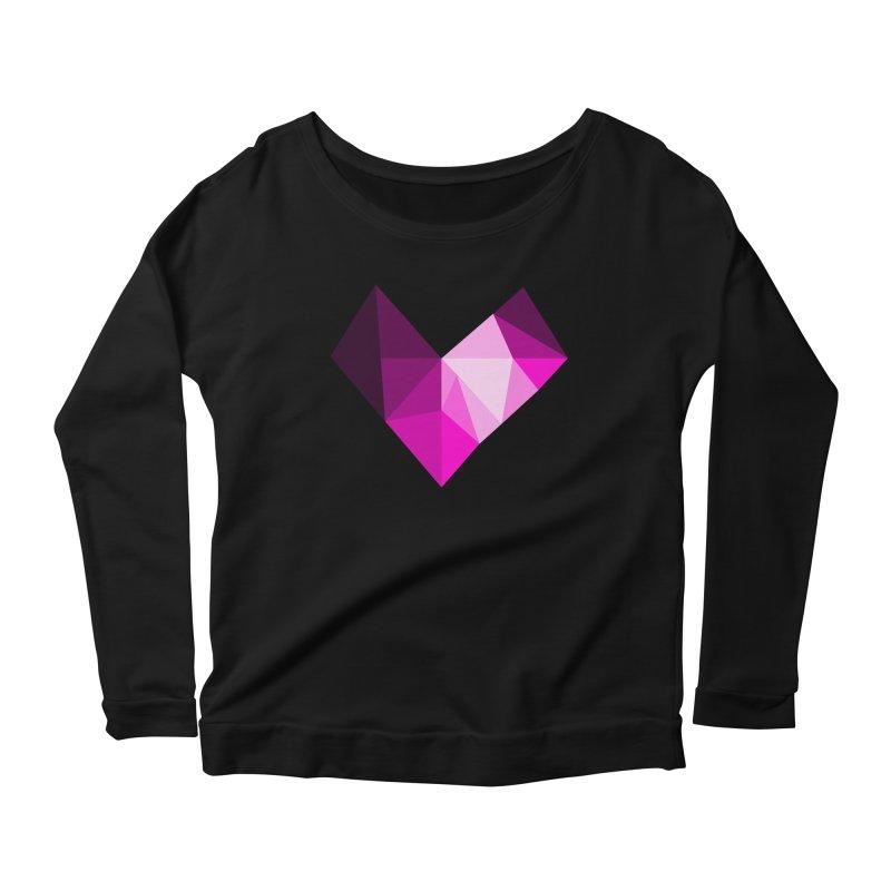 My pink heart Women's Scoop Neck Longsleeve T-Shirt by ZuniReds's Artist Shop