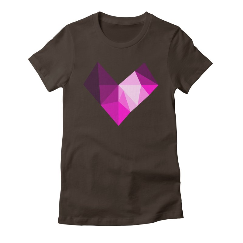 My pink heart Women's Fitted T-Shirt by ZuniReds's Artist Shop