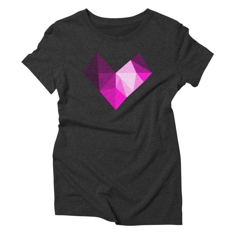 My pink heart Women's Triblend T-Shirt by ZuniReds's Artist Shop