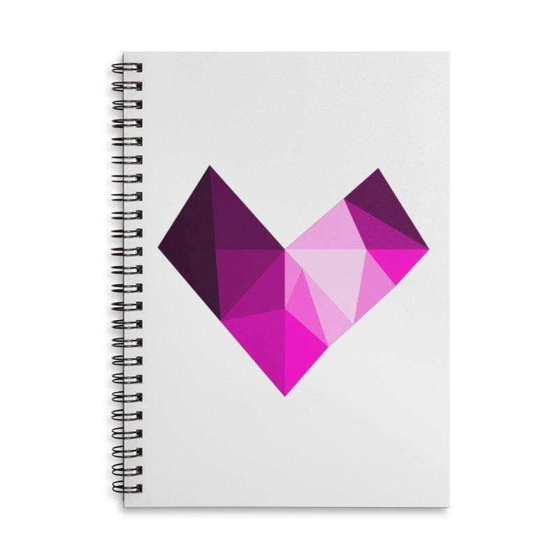 My pink heart Accessories Lined Spiral Notebook by ZuniReds's Artist Shop