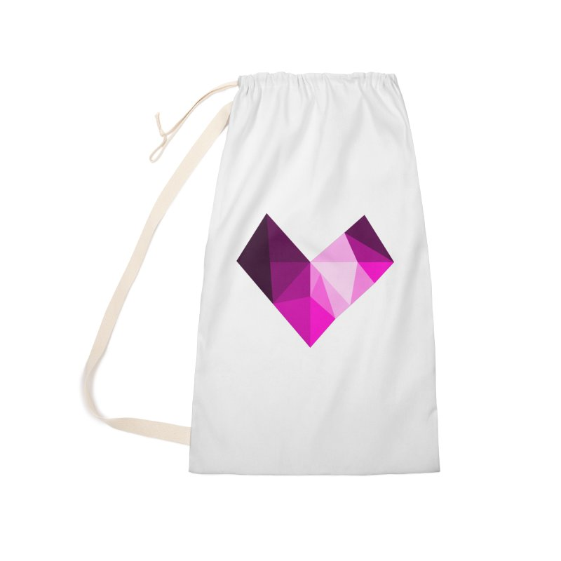 My pink heart Accessories Laundry Bag Bag by ZuniReds's Artist Shop