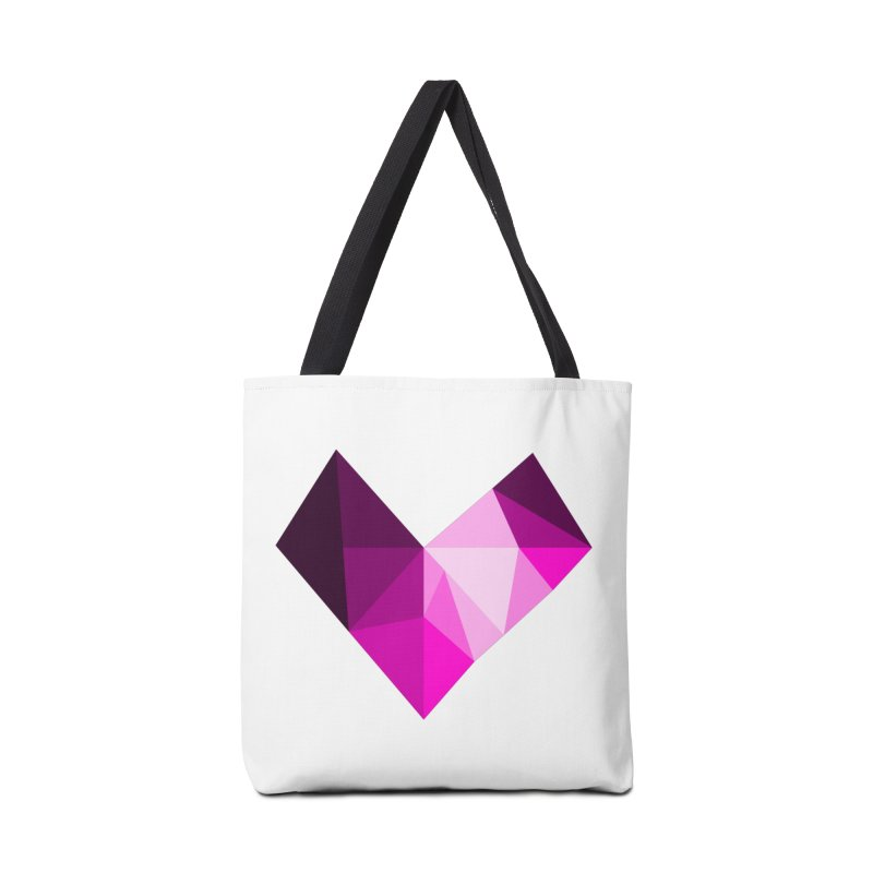 My pink heart Accessories Tote Bag Bag by ZuniReds's Artist Shop